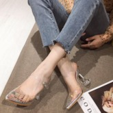 Ankle Strap Pointed Toe Stiletto Heel Buckle Women's Sandals