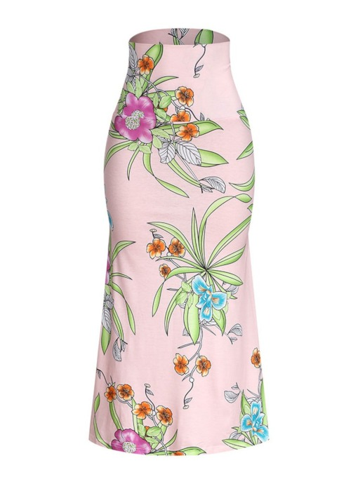 Ankle-Length Print Floral Mermaid Fashion Women's Skirt