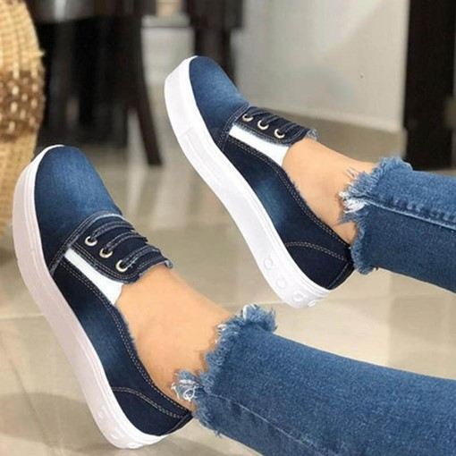 Platform Round Toe Slip-On Women's Flats