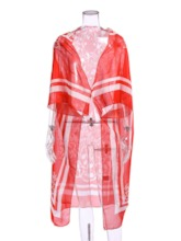 Long Ethnic Women's Trench Coat