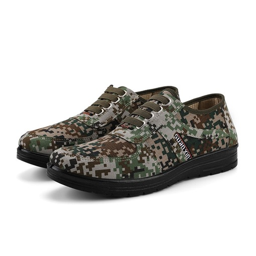 Flat Camouflage Low-Cut Upper Round Toe Men's Skate Shoes