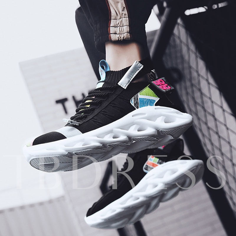 Sports Low-Cut Upper Lace-Up Men's Chunky Sneakers
