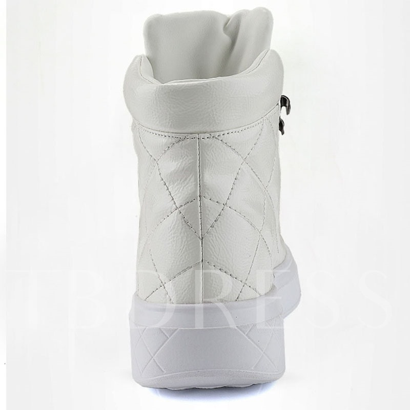 High Top Lace-Up Round Toe Chic Men's Skate Shoes
