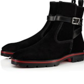 Suede Hasp Round Toe Men's Ankle Boots