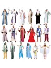 Color Block Arabian Robe Men's Costume