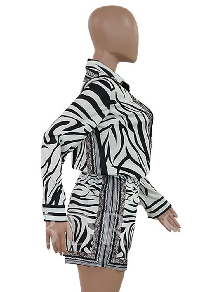 Zebra Stripe Print Fashion Shorts Loose Women's Jumpsuit
