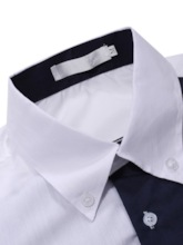 Casual Slim Color Block Button Lapel Single-Breasted Long Sleeves Men's Shirt