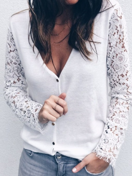 Regular Single-Breasted Button Spring Women's Sweater