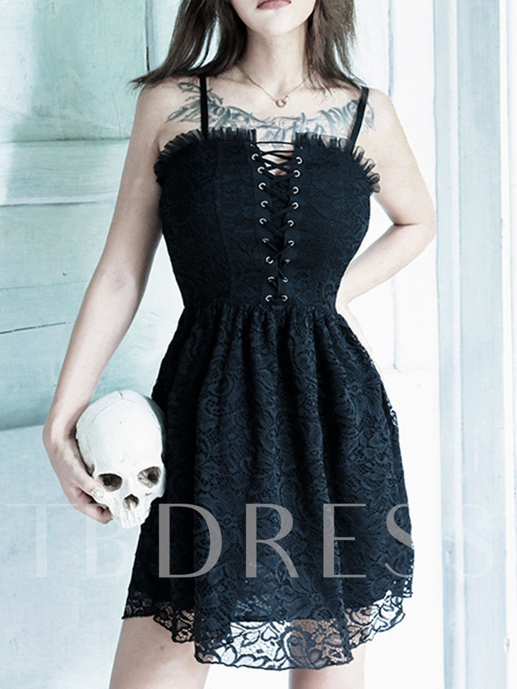 Halloween Costume Above Knee Sleeveless Stringy Selvedge Pullover Women's Day Dress