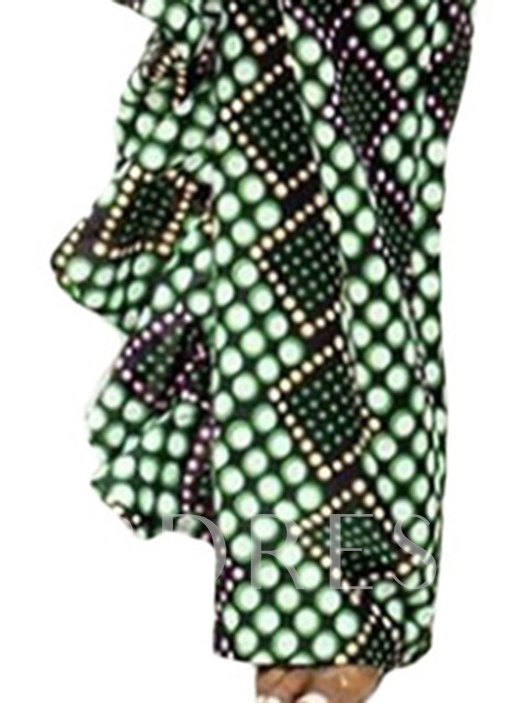 Western Print T-Shirt Polka Dots Pullover Women's Two Piece Sets