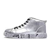 Lace-Up High Top Round Toe Letter Women's Sneakers(Pluz Size)