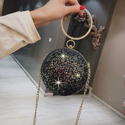 Diamond Circular Cross Body Bags