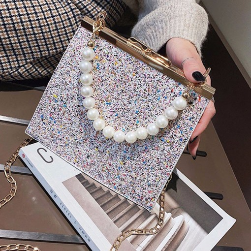 Sequins Rectangle Cross Body Bags