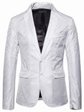 Patchwork Casual Loose Single-Breasted Men's Leisure Blazers