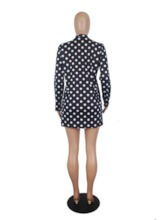 Polka Dots Coat Print Fashion Wide Legs Women's Two Piece Sets
