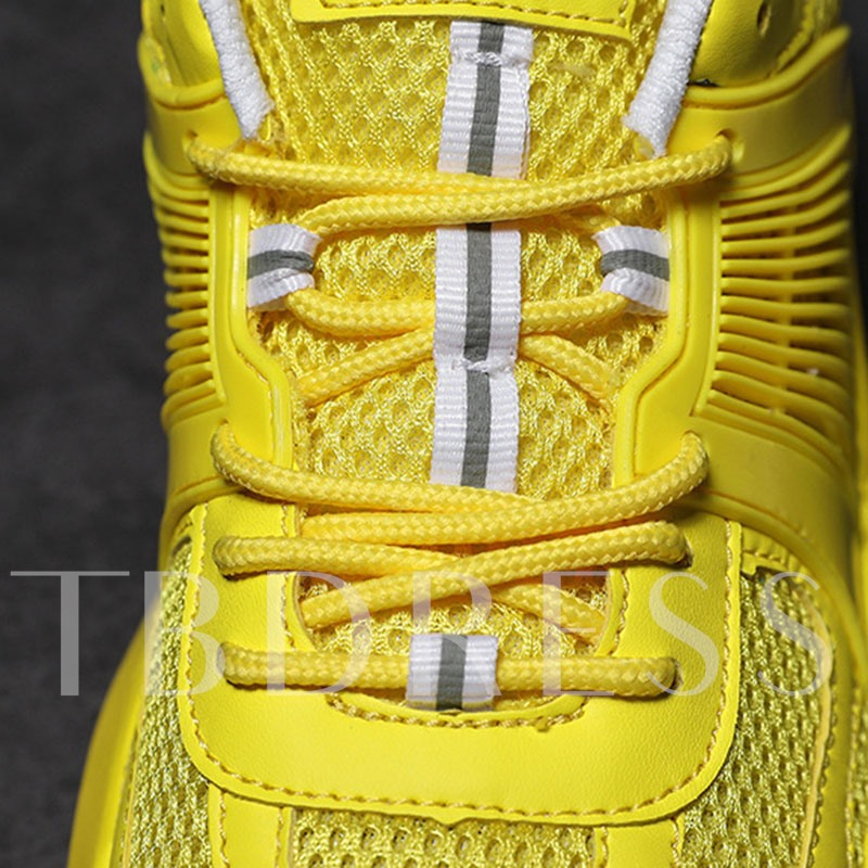 Neon Sports Lace-Up Men's Sneakers