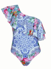 One-Piece Print Sexy Women's Swimwear