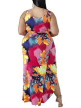 Plus Size Floral Sexy One Piece Print Women's Swimwear
