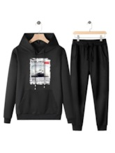 Pants Casual Lace-Up Letter Spring Men's Outfit