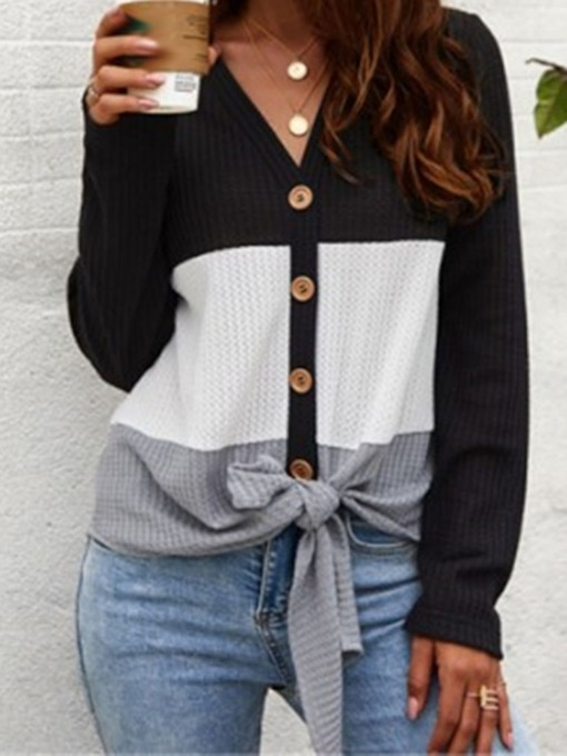 Button Regular Thin Single-Breasted Fall Women's Sweater