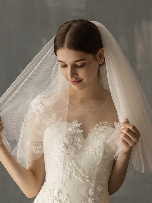 Two-Layer Cut Edge Wedding Veil 2019