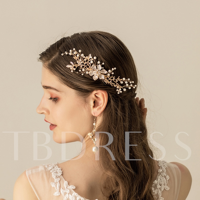 Floral Pearls European Wedding Hair Comb