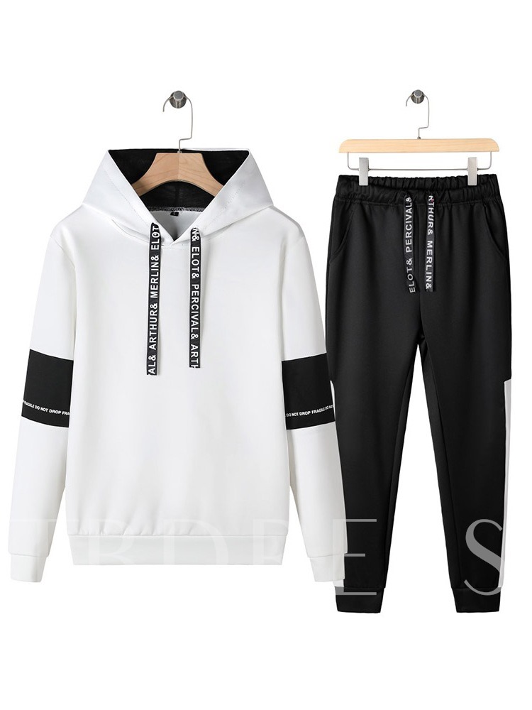 Print Casual Pants Letter Fall Men's Outfit