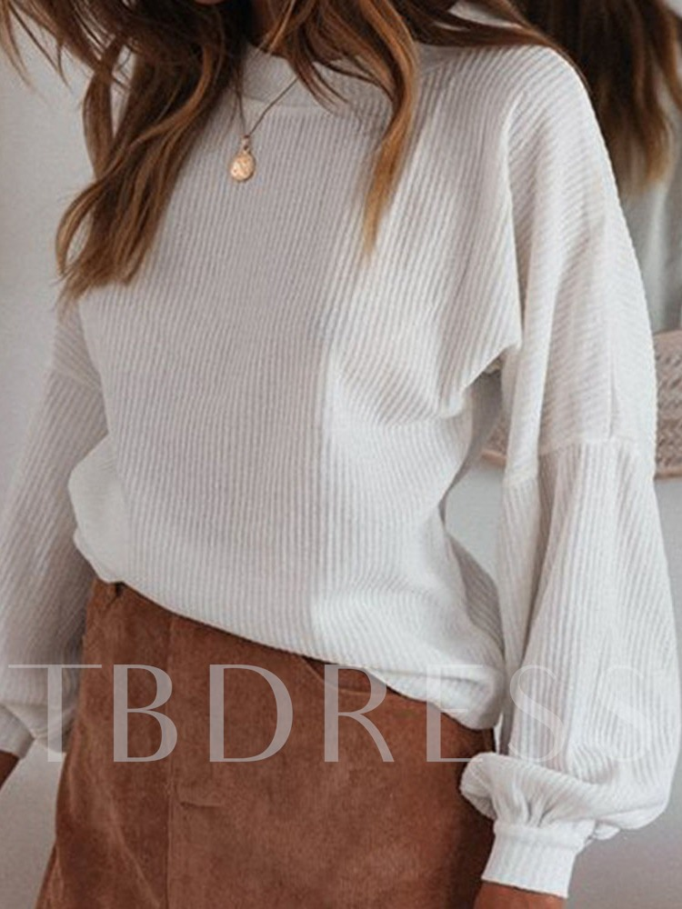 Lantern Sleeve Thread Thin Standard Women's Sweater
