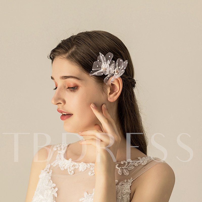 Bead Hair Stick Plaid Hair Accessories (Wedding)
