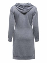 Asymmetric Hooded Asymmetrical Women's Long Sleeve Dress