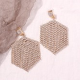 European Diamante Plain Anniversary Drop Earrings