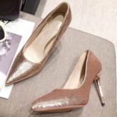Slip-On Stiletto Heel Pointed Toe Prom Shoes