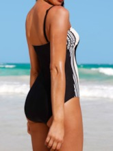 Sexy Color Block Patchwork One Piece Women's Swimwear