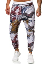 Letter Print Overall Men's Casual Pants
