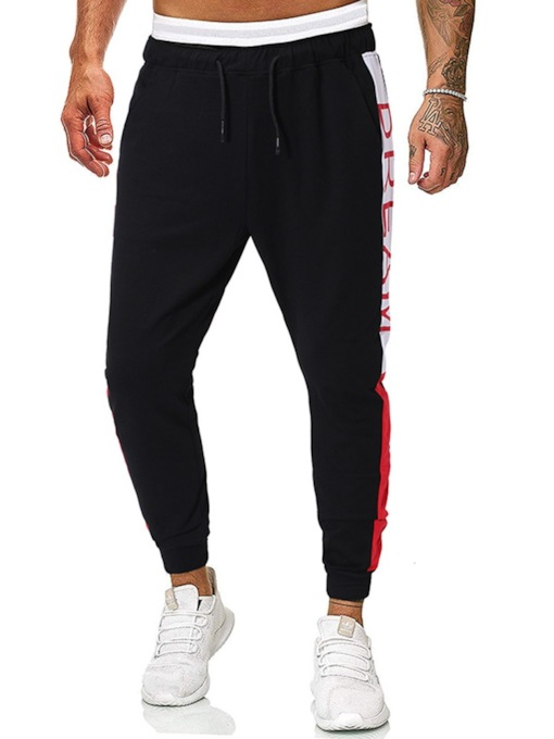 Print Letter Casual Men's Casual Pants