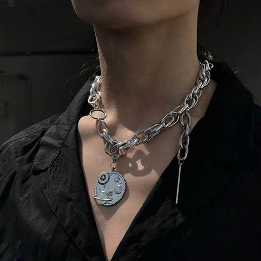 Rock/Punk E-Plating Unisex Pendant Necklace