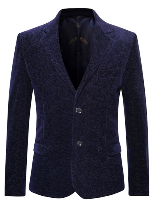 Button Fashion Slim Plain Men's Blazer