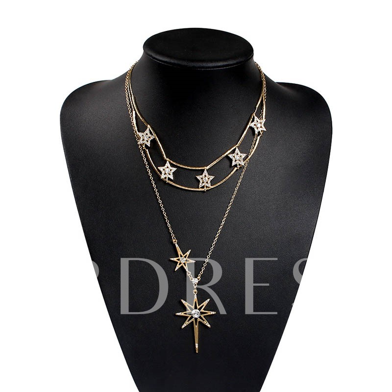 Diamante European Wedding Pendant Necklace