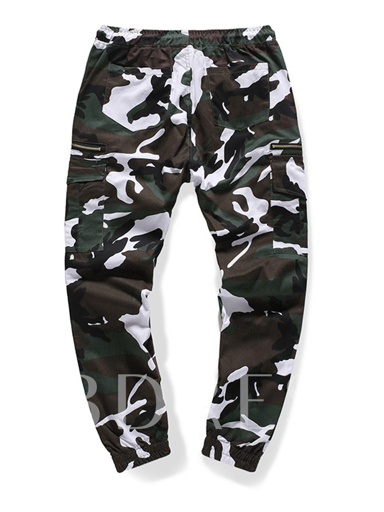 Pocket Camouflage Overall Men's Casual Pants