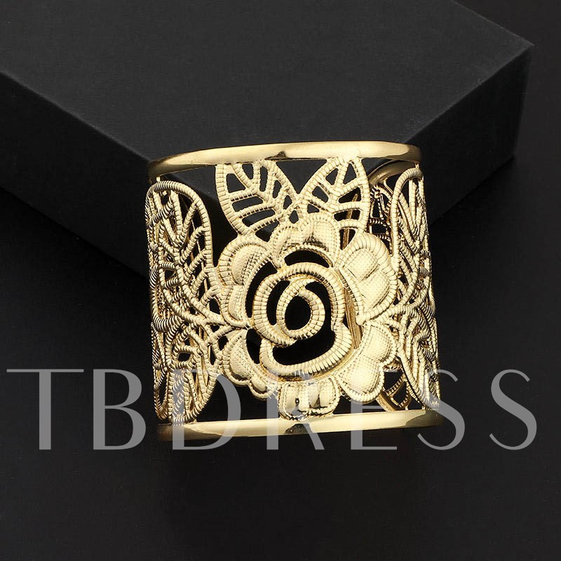 Floral European Hollow Out Vintage Female Bracelets