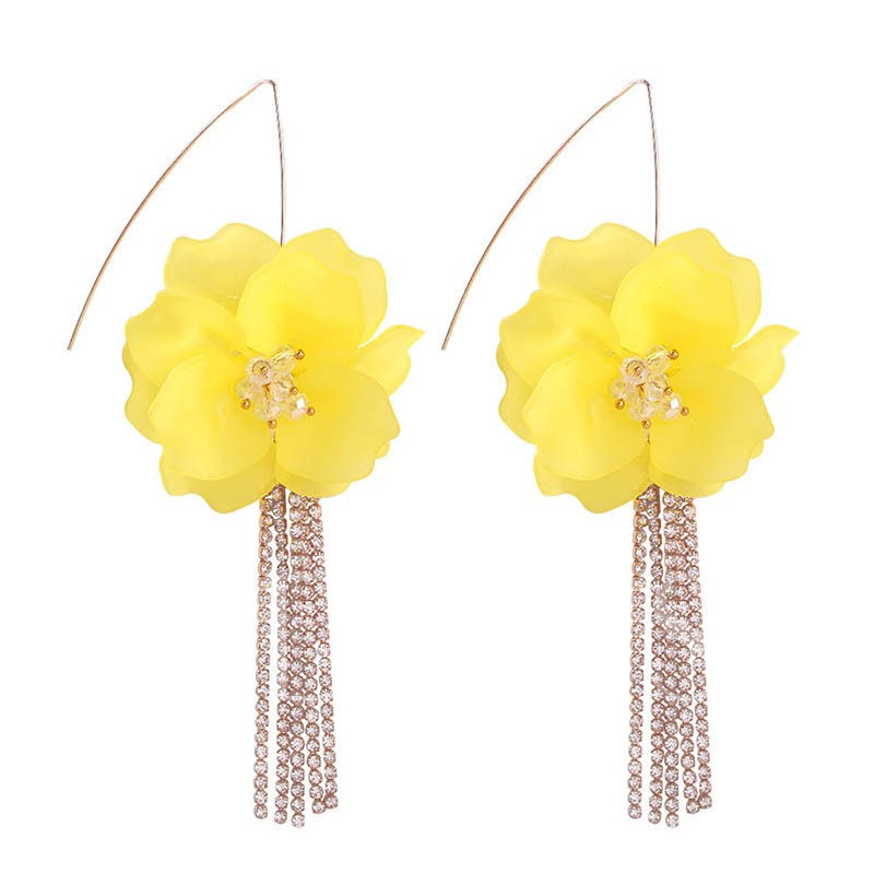 Alloy Floral European Drop Earrings