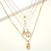European E-Plating Pendant Necklace