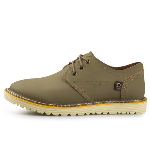 Lace-Up Low-Cut Upper Simple Round Toe Men's Casual Shoes