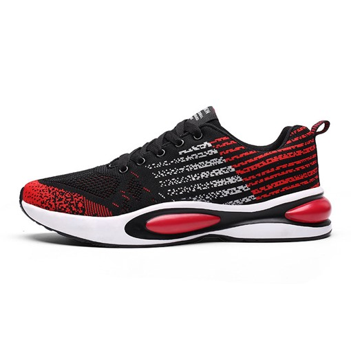Lace-Up Round Toe Mesh Men's Sneakers
