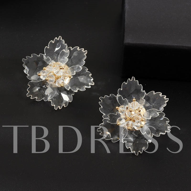 Sweet Acrylic Floral Holiday Earrings
