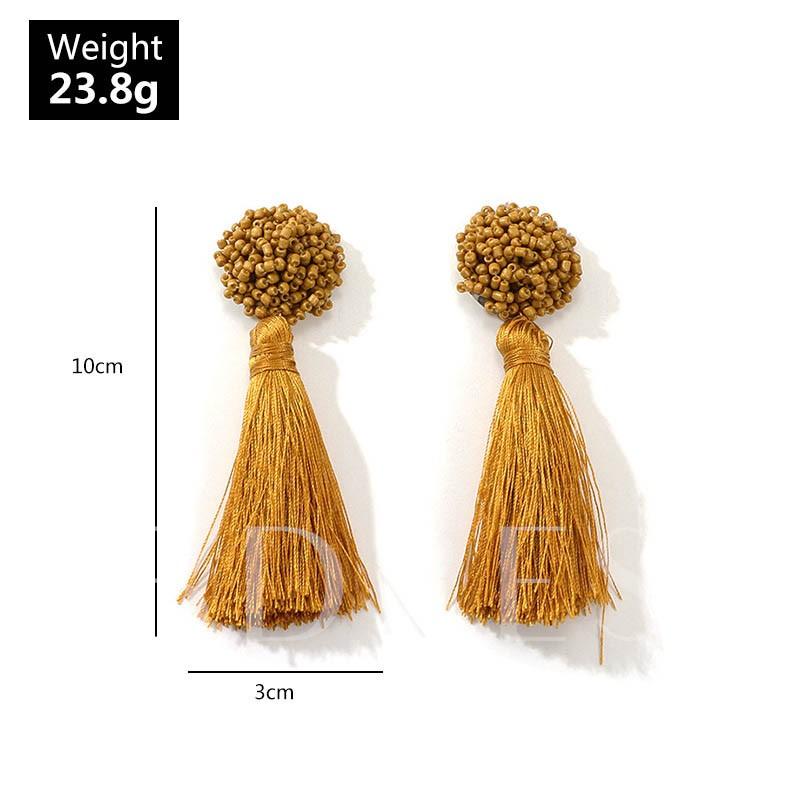 Tassel Bohemian Plain Party Women's Drop Earrings