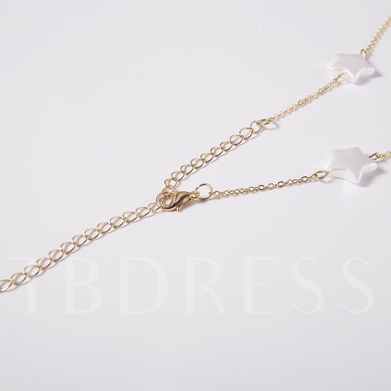 Geometric E-Plating Link Chain Pendant Necklace