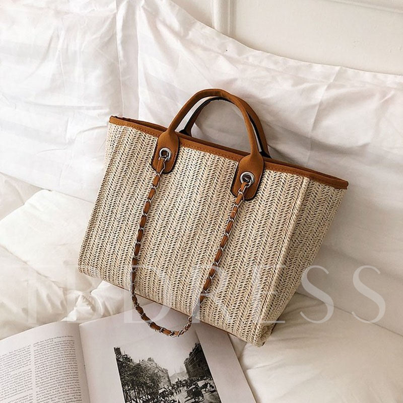 Knitted Rectangle Holiday Women's Tote Bags