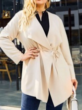 Plus Size Mid-Length Loose Women's Trench Coat
