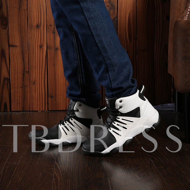 High-Cut Upper Sports Lace-Up Round Toe Men's Basketball Shoes